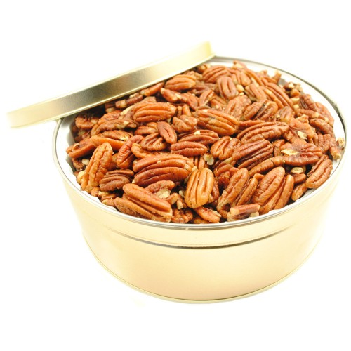 Roasted Unsalted Pecans - Gift Tin